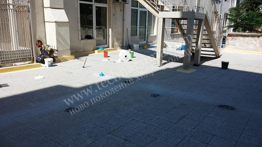 Waterproofing of the terrace of the church the town sofia for Terrace waterproofing