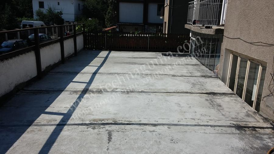 Waterproofing of terrace roof above shops in the town bansko for Terrace waterproofing