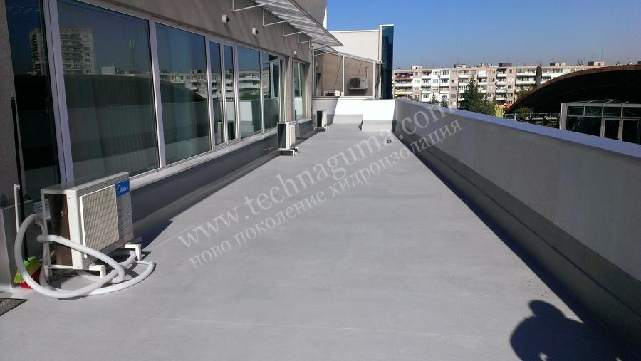 Waterproofing of terrace tiles with liquid rubber akrofleks for Terrace waterproofing