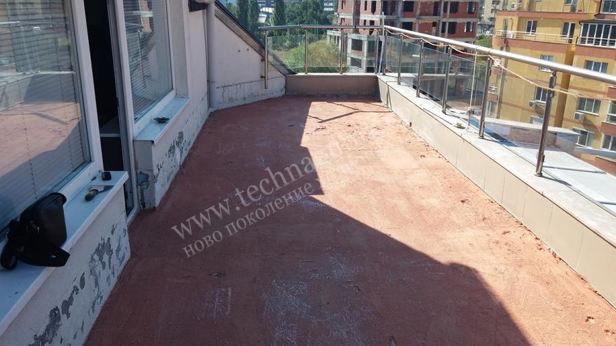 Waterproofing of terrace isoflex universal for Terrace waterproofing